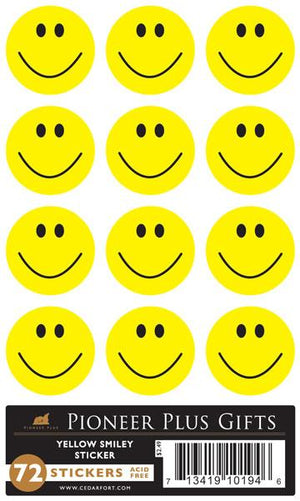 B533 Sticker Yellow Smiley