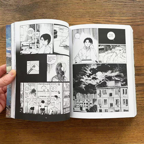 In this spread, a young man reminisces about moments he shared with his grandmother.