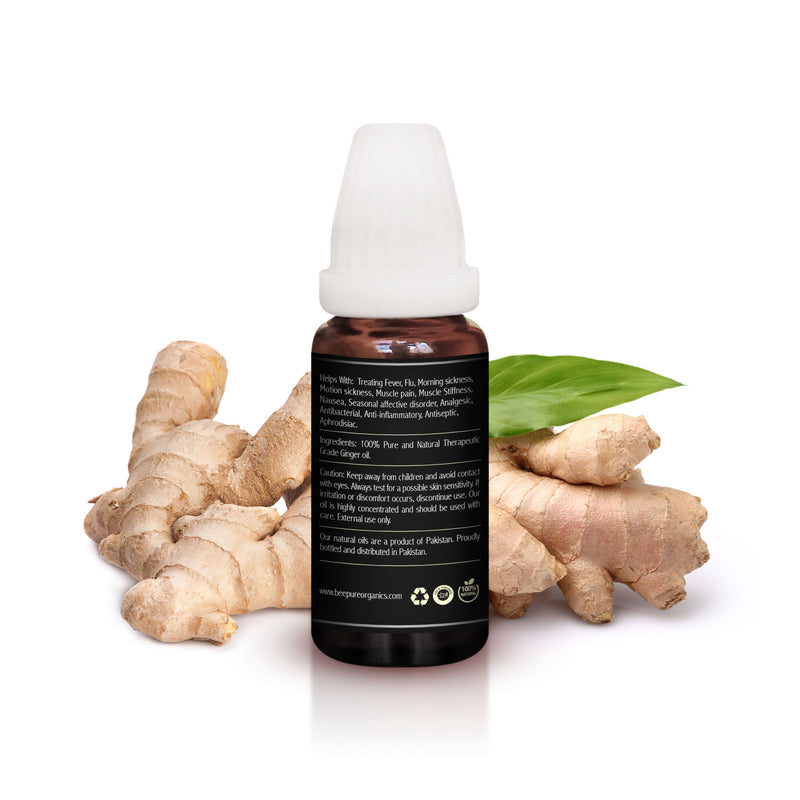Ginger Oil (Adrak) Premium Carrier Oil