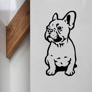 Bouledogue Français assis multi-surface