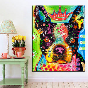 Peinture Frenchie full of color 3