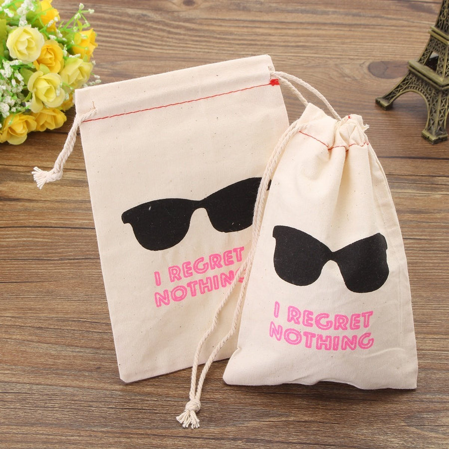 10pcs Set Sunglasses Party Storage Hangover Kit Cotton Linen Bags Wedding Supply Tigerlily and Me