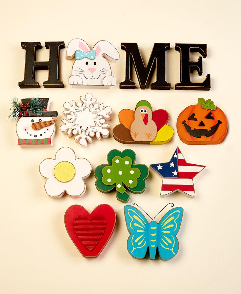 13-Pc. Interchangeable Home Sentiment Party Decoration Tigerlily and Me
