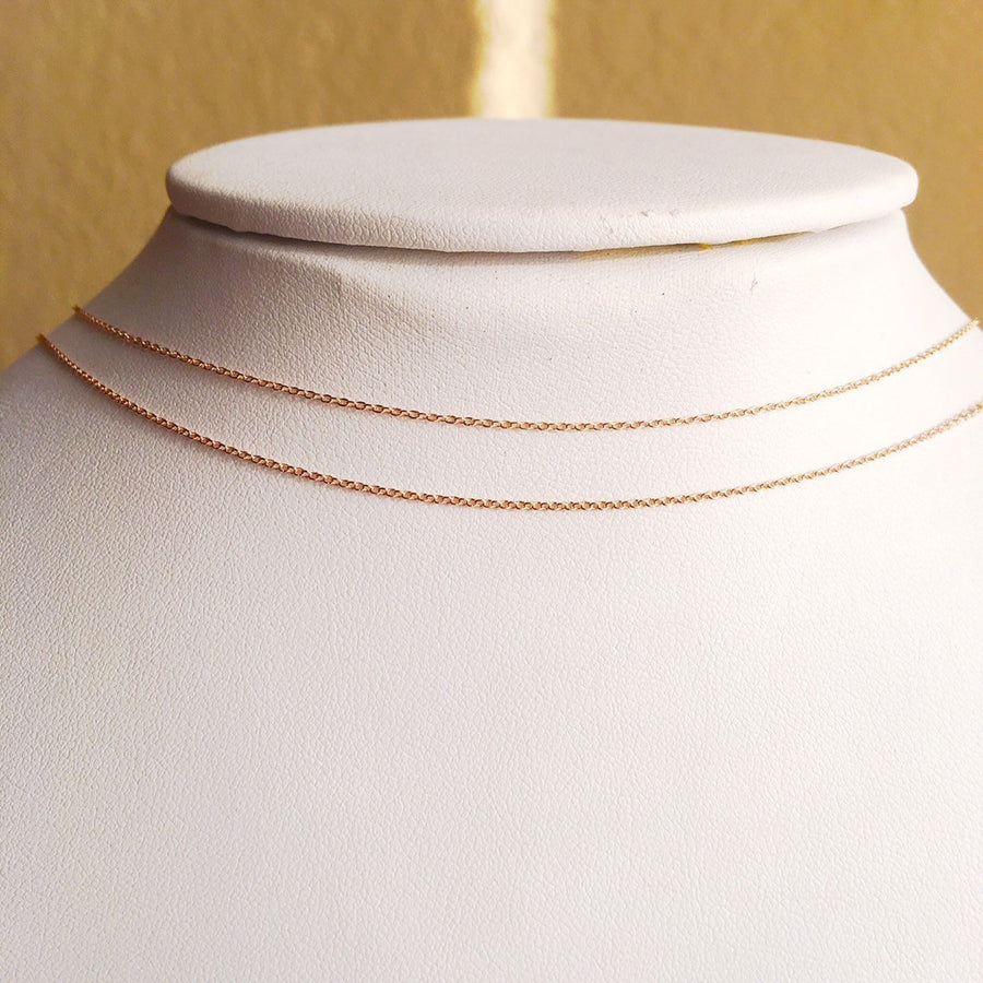 14k Rose Gold Filled Beaded Minimalist Choker Necklace
