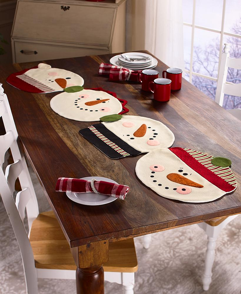 2-In-1 Snowman Placemats or Table Runner Party Decoration Tigerlily and Me