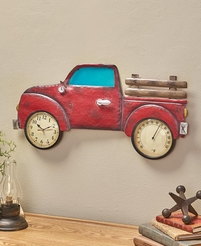 24 Country Truck Clock and Thermometer Home - Decor Accents Tigerlily and Me