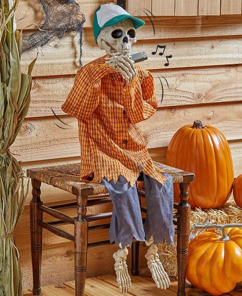 38 Halloween Harmonica-Playing Skeleton Party Decoration Tigerlily and Me