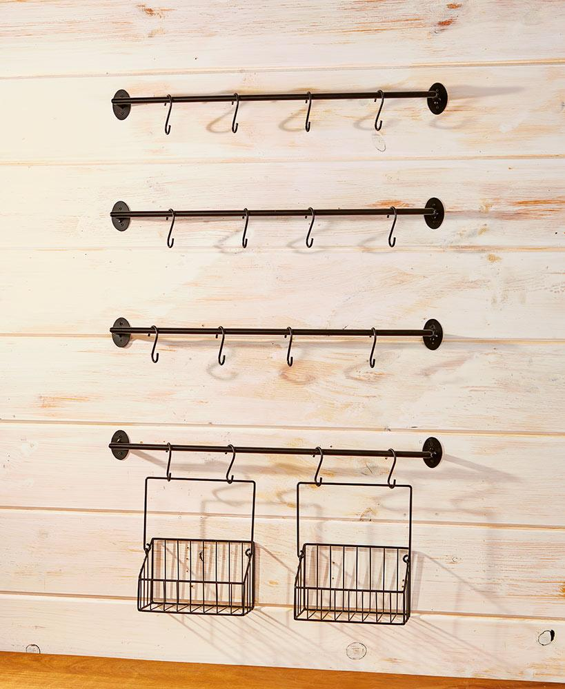 6-Pc. Wall-Mounted Coffee Mug Rack Home - Storage Tigerlily and Me