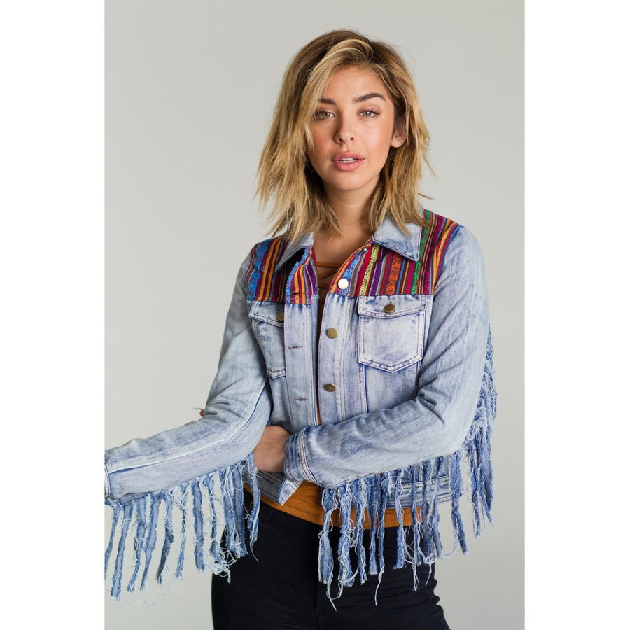 All Washed Up Denim Jacket Women - Apparel - Jackets & Coats Tigerlily and Me