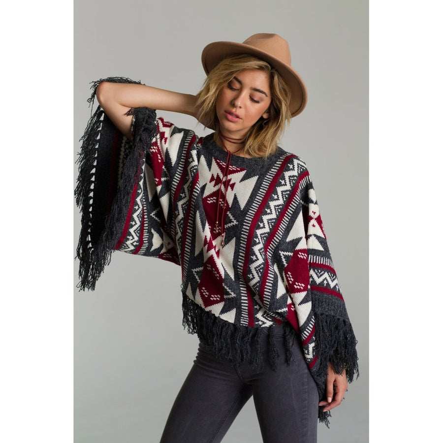 Aztec Dreams Poncho Women - Apparel - Sweaters Cardigans and Tops Tigerlily and Me