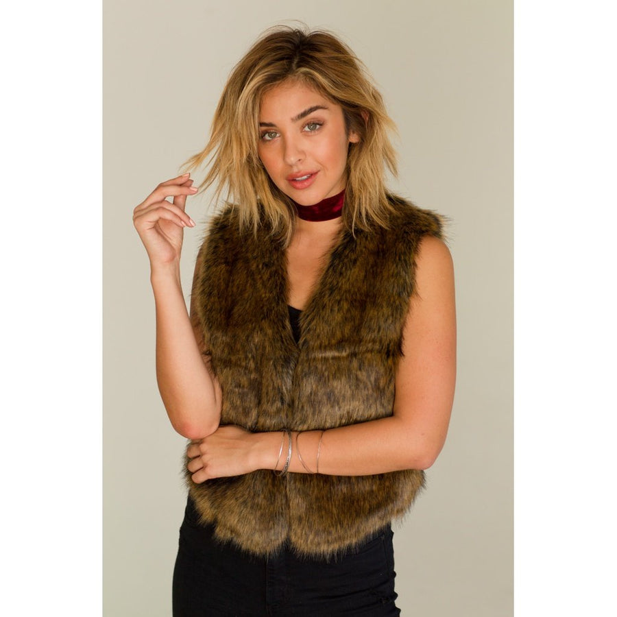 Bearclaw Faux Fur Vest Woman - Apparel - Vests Tigerlily and Me