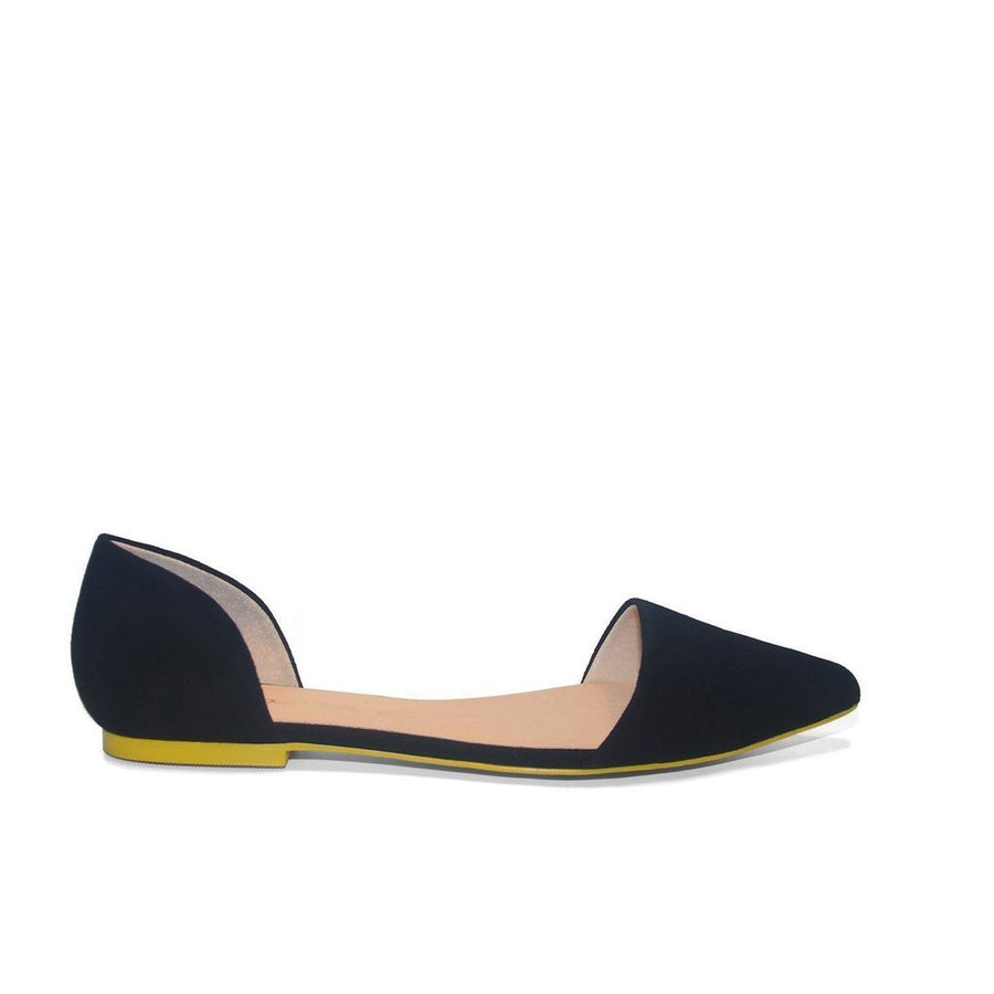 Black Suede Flats Women - Shoes Tigerlily and Me