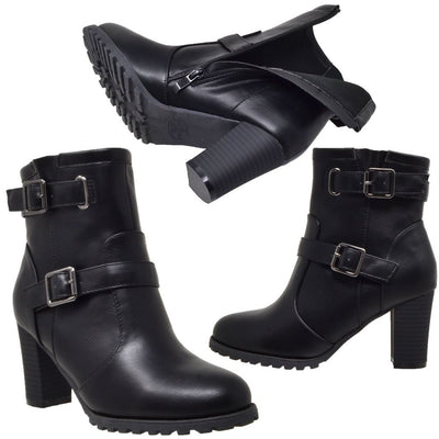 Block Heel Ankle Boot - Black Women - Shoes Tigerlily and Me