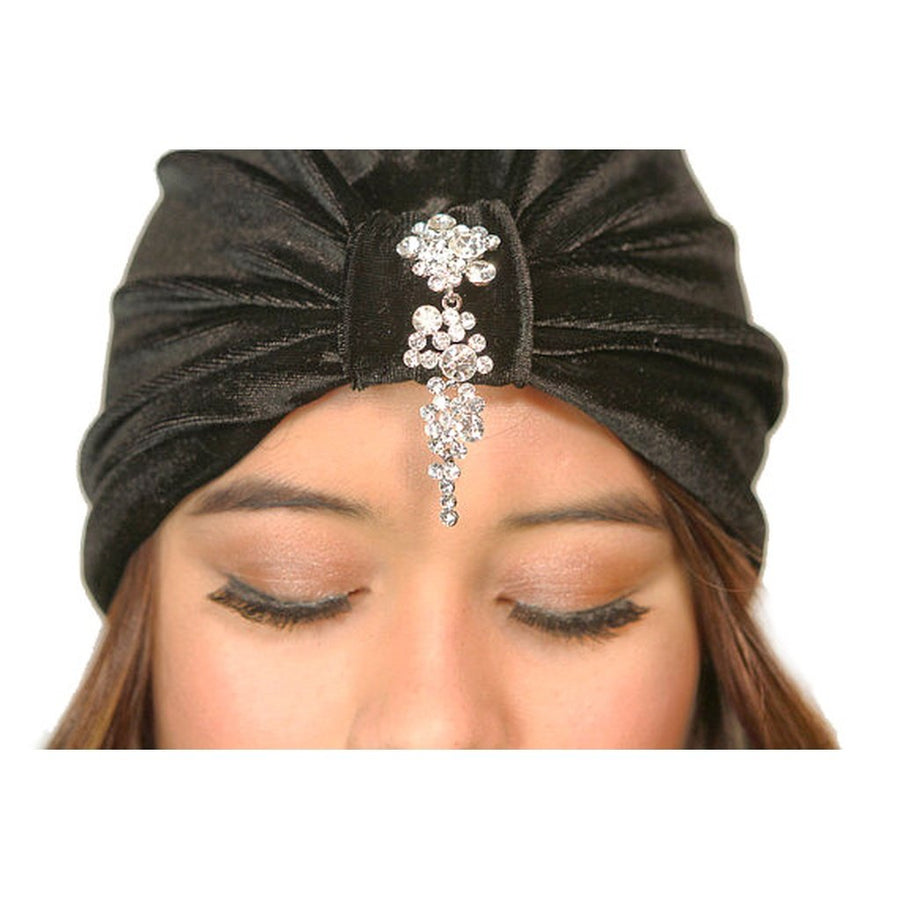 Cascading Crystals Turban Women - Accessories - Hair Accessories Tigerlily and Me