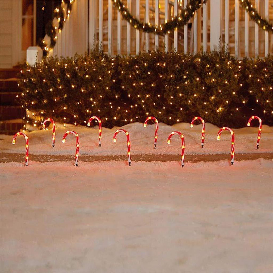 Christmas Candy Cane Pathway Lights - Set of 10 Home - Lighting Tigerlily and Me