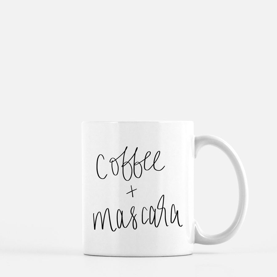 Coffee and Mascara Coffee Mug Home - Glasses & Mugs Tigerlily and Me