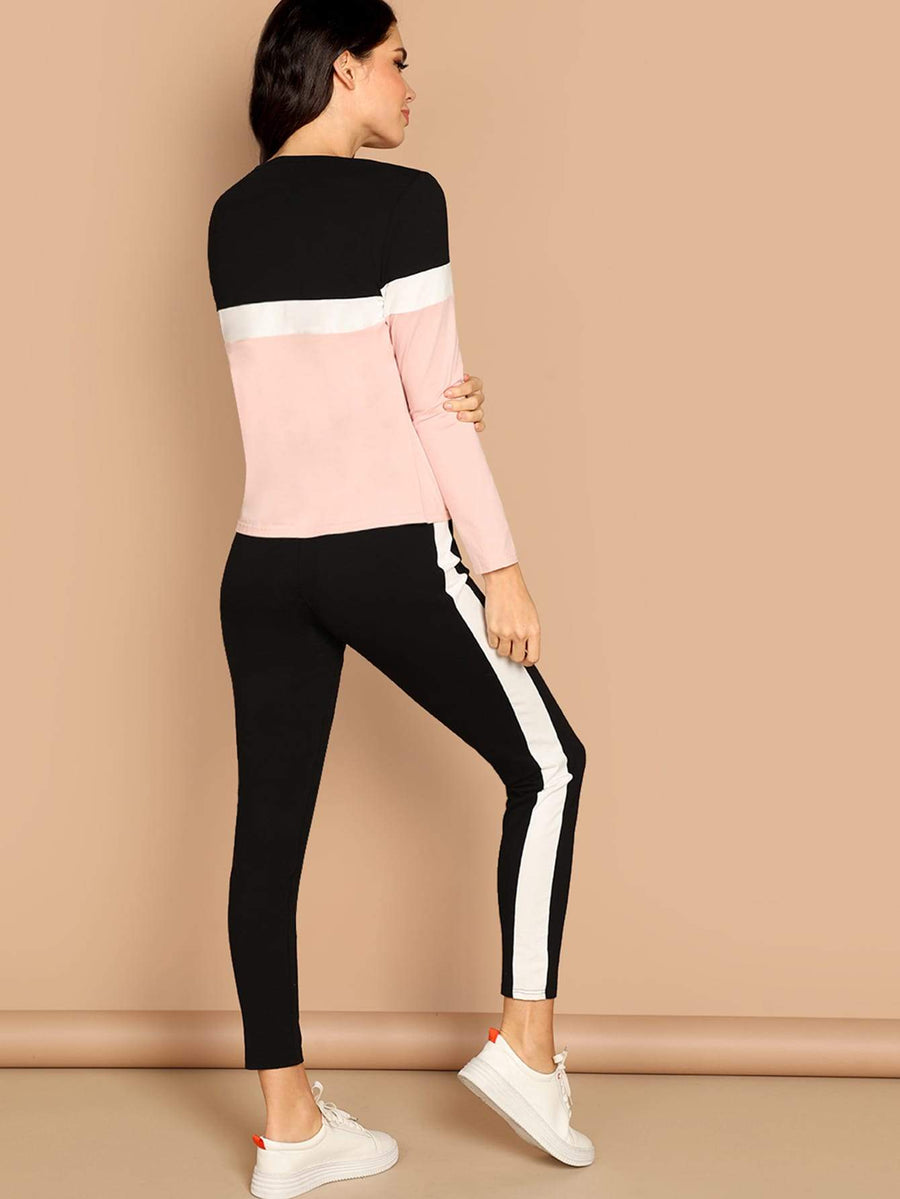 Color-Block Top & Pants Set Women - Apparel - Activewear Tigerlily and Me