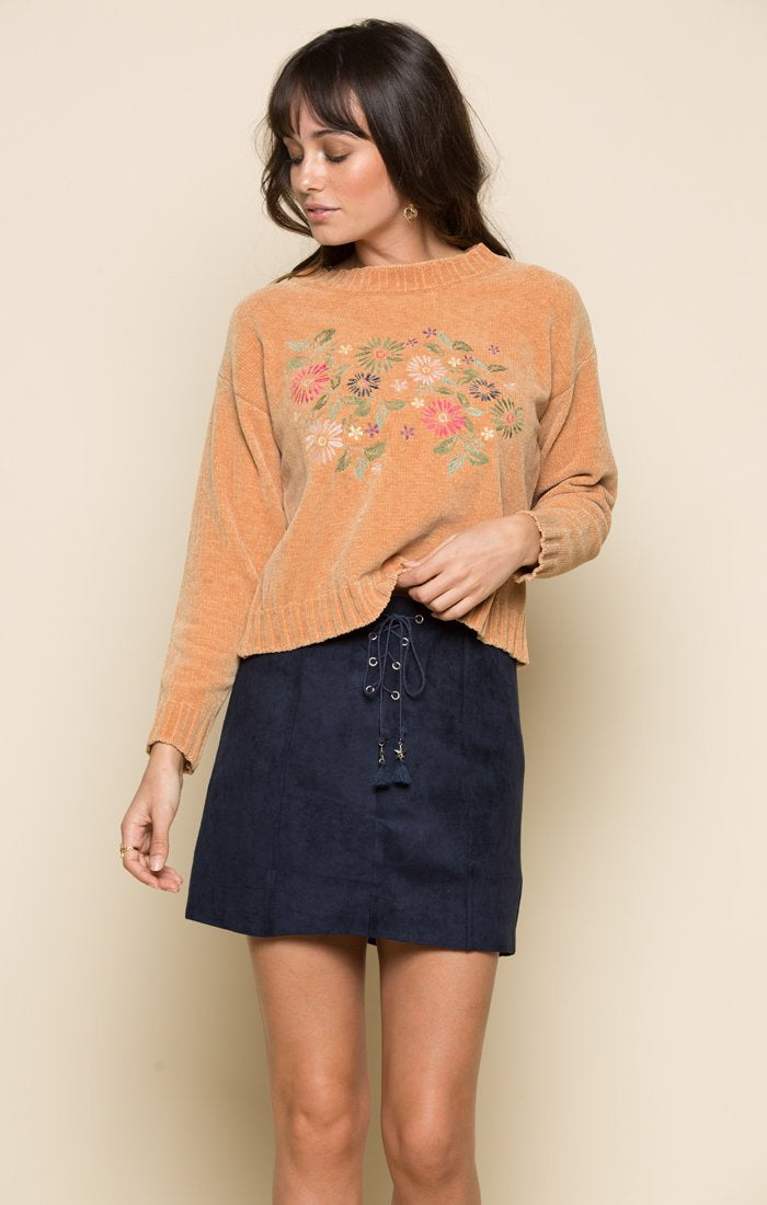 Daisy Embroidered Sweater Women - Apparel - Sweaters Cardigans and Tops Tigerlily and Me