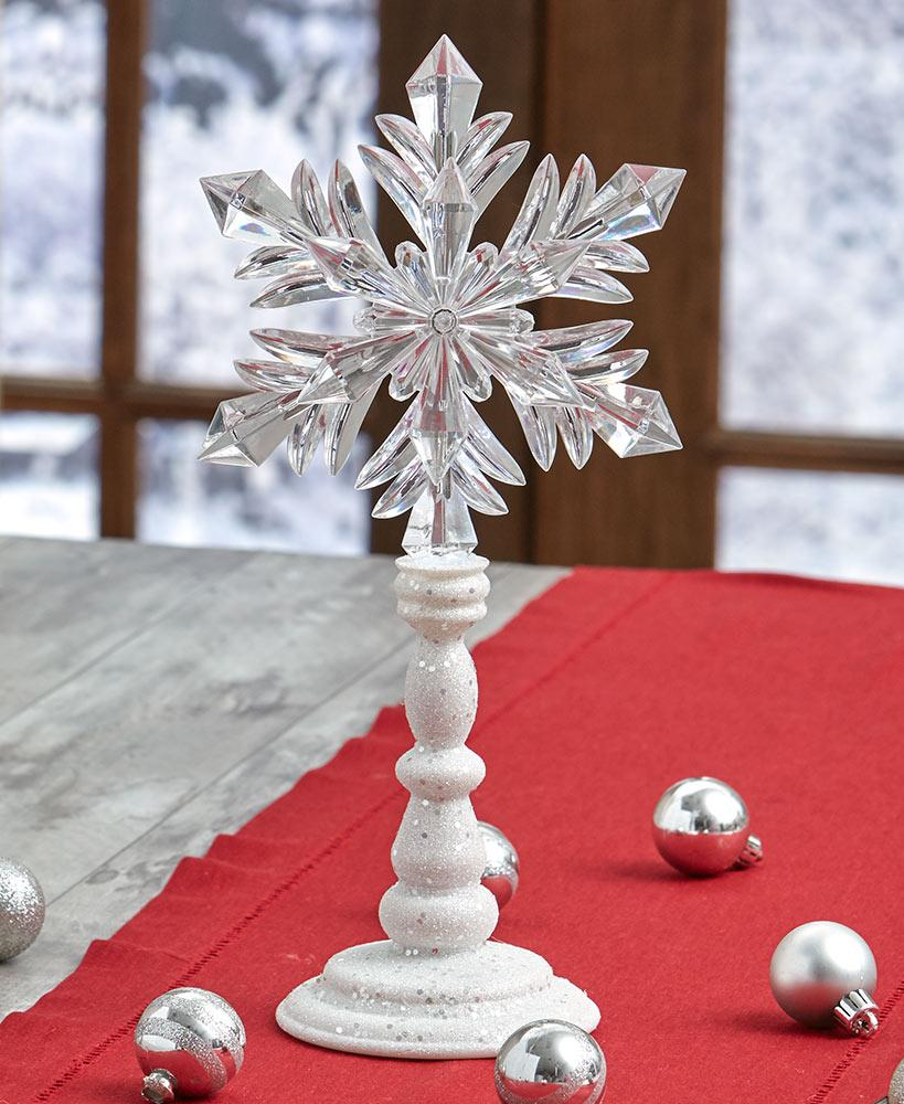 Elegant Lighted Snowflake on Stand Party Decoration Tigerlily and Me