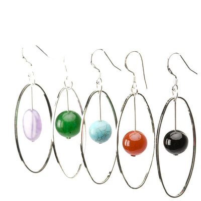 Elemental Gemstone Earrings Women - Jewelry - Earrings Tigerlily and Me
