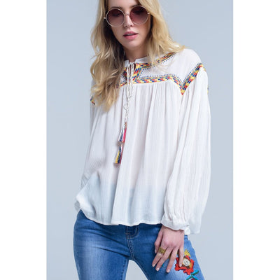 Embroidered Boho Blouse Women - Apparel - Shirts - Blouses Tigerlily and Me