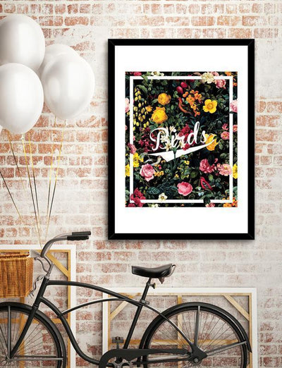 Floral and Birds Pattern Frame Home - Wall Art Tigerlily and Me