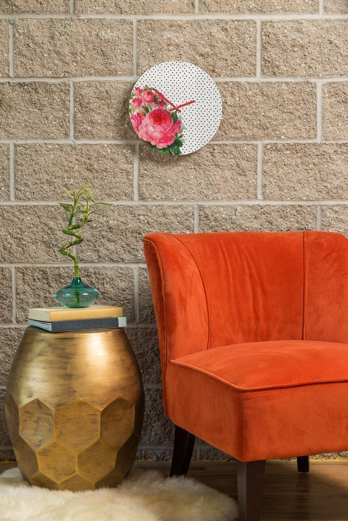 Floral Dot Clock Home - Wall Art Tigerlily and Me