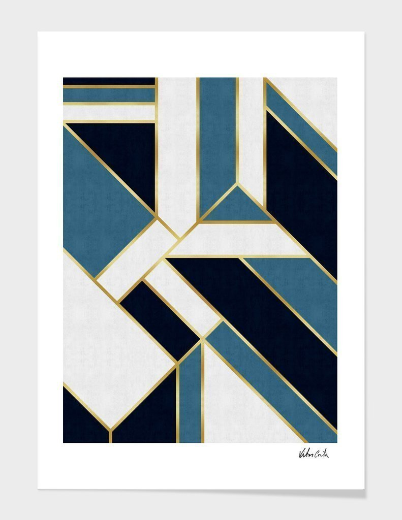 Geometric and golden art V Frame Home - Wall Art Tigerlily and Me