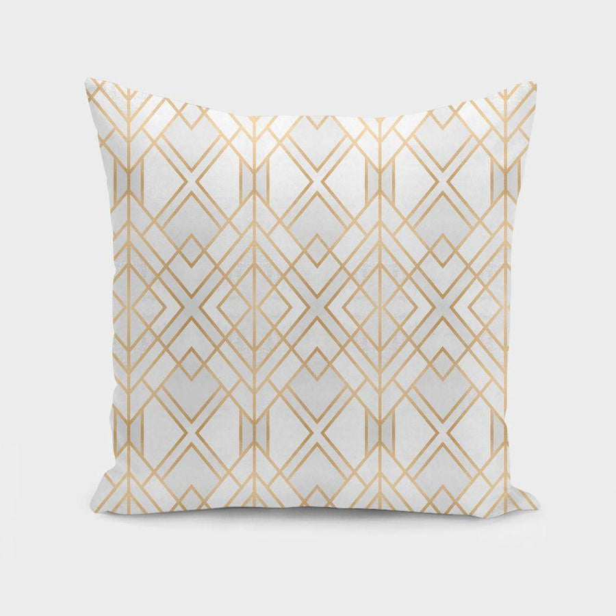 Golden Geo Pillow
