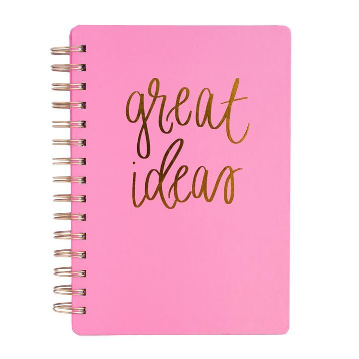 GREAT IDEAS PINK SPIRAL NOTEBOOK Home - Stationary & Planners Tigerlily and Me