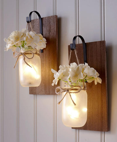 Hanging Mason Jar Sconce Home - Lighting Tigerlily and Me