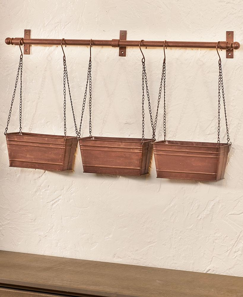 Hanging Metal Wall Planters Home - Decor Accents Tigerlily and Me
