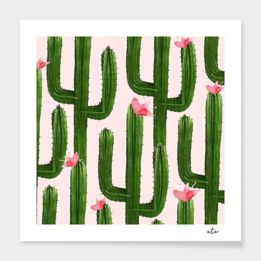 Happy Cacti Frame Home - Wall Art Tigerlily and Me