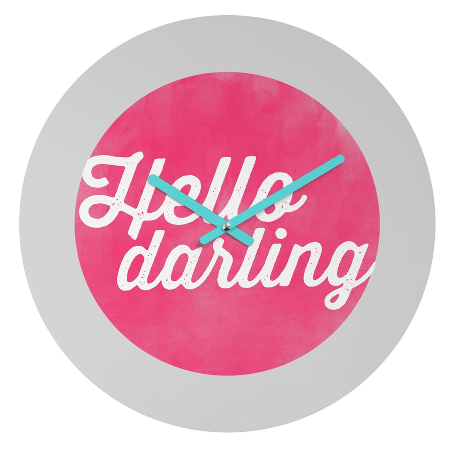 Hello Darling Wall Clock Home - Wall Art Tigerlily and Me
