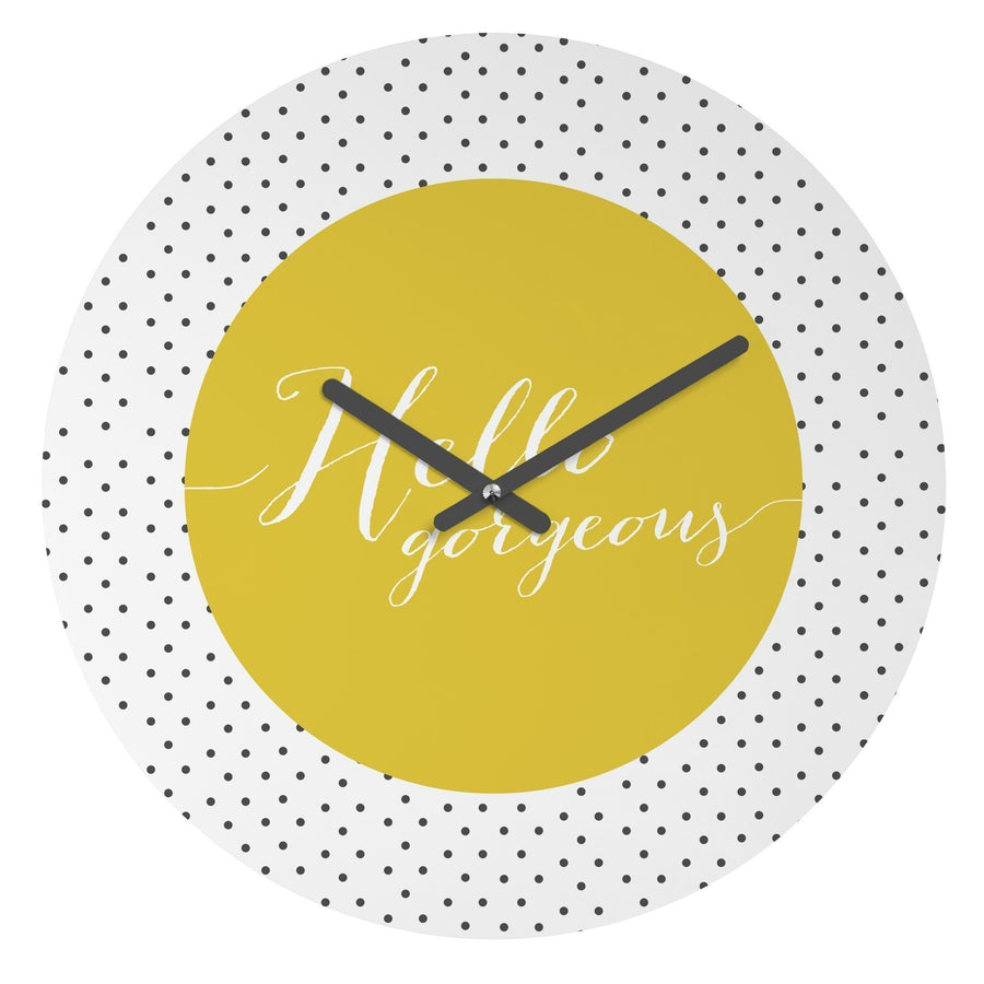 Hello Gorgeous Clock Home - Wall Art Tigerlily and Me