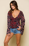 INFINITE NIGHTS ROBE WRAP TOP Women - Apparel - Shirts - Blouses Tigerlily and Me