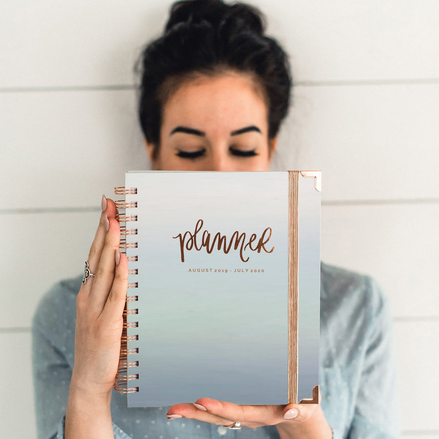 IRIDESCENT ROSE GOLD PLANNER | AUGUST 2019 - JULY 2020 Home - Stationary & Planners Tigerlily and Me
