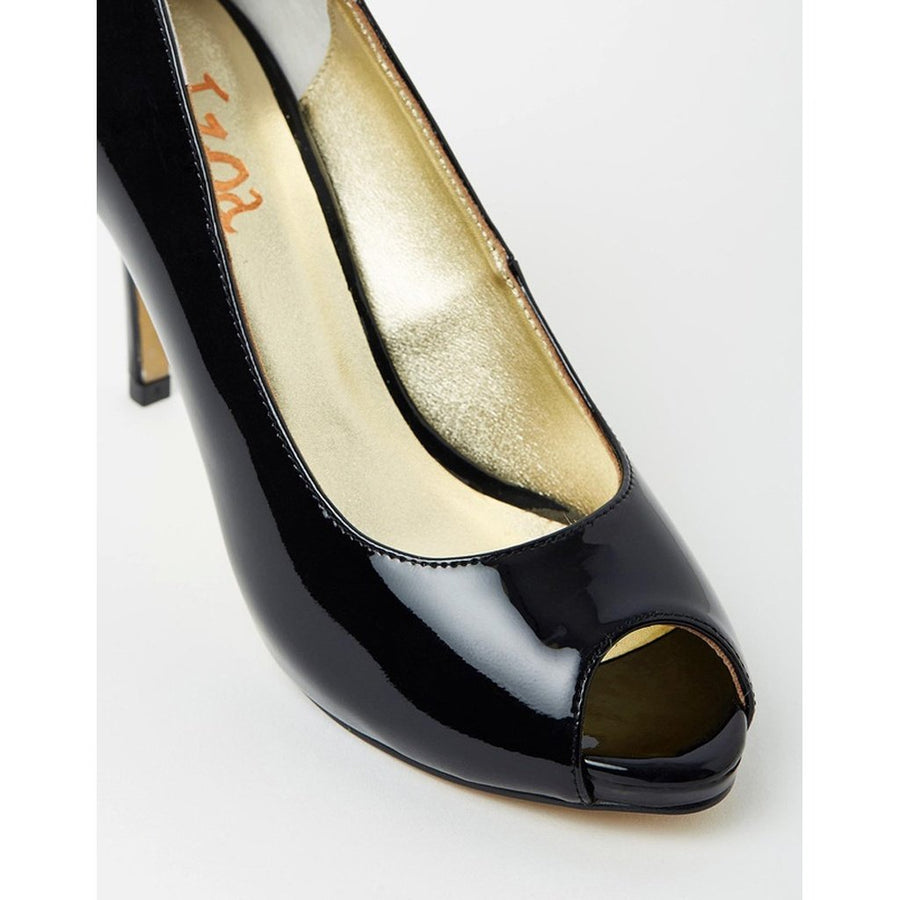 Izoa Lola Peep Toe Pumps - Black