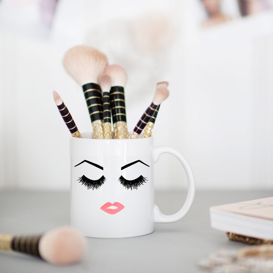 Lashes Lips and Brows Coffee Mug Home - Glasses & Mugs Tigerlily and Me