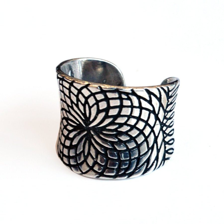 Lotus Sterling Silver Ring Women - Jewelry - Rings Tigerlily and Me
