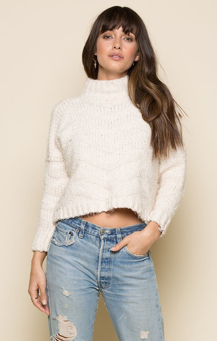 Madeline Mock Neck Sweater Women - Apparel - Sweaters Cardigans and Tops Tigerlily and Me