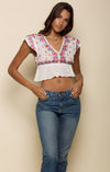 Mariah Peplum Crop Women - Apparel - Shirts - Blouses Tigerlily and Me