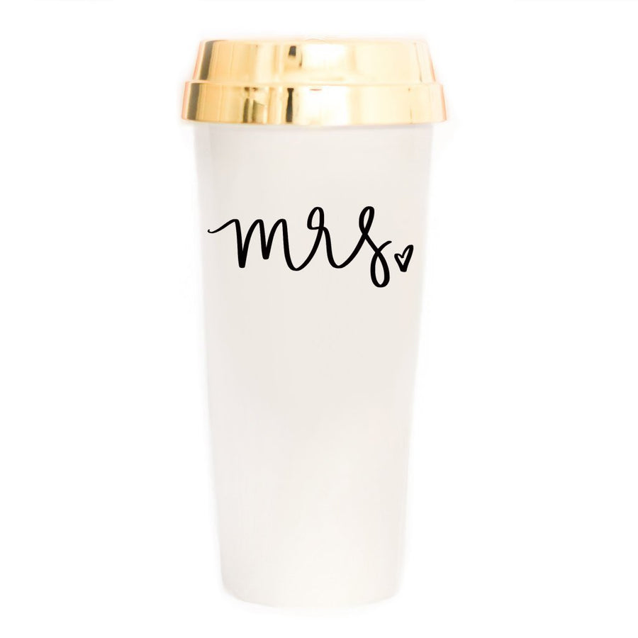 Mrs Tumbler Travel Coffee Mug Home - Glasses & Mugs Tigerlily and Me