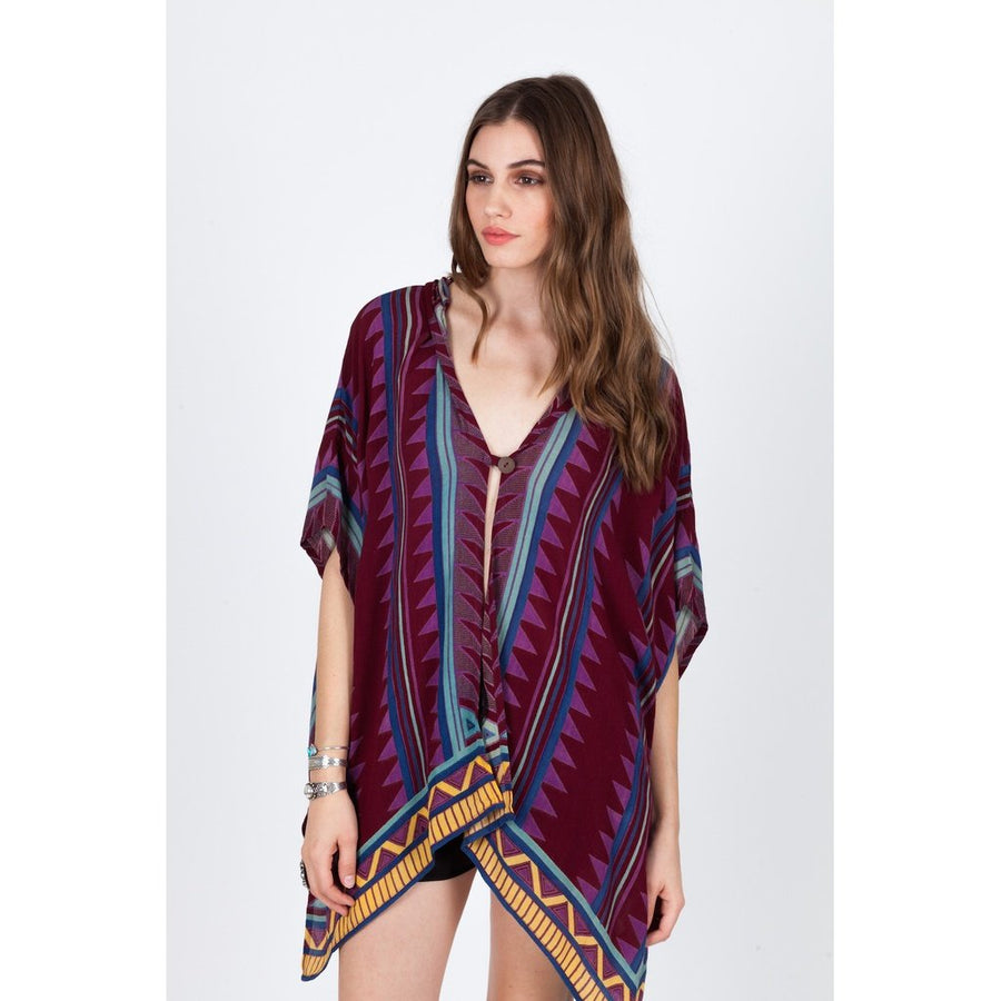 Neo Tribal Poncho Women - Apparel - Sweaters Cardigans and Tops Tigerlily and Me