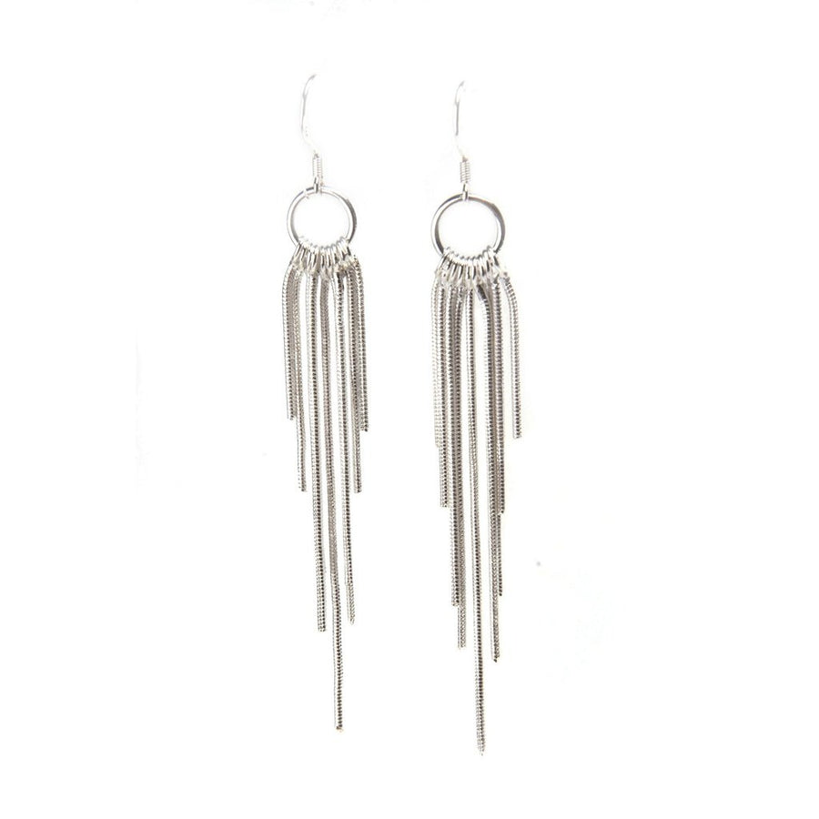 Olina Sterling Silver Fringe Earrings Women - Jewelry - Earrings Tigerlily and Me