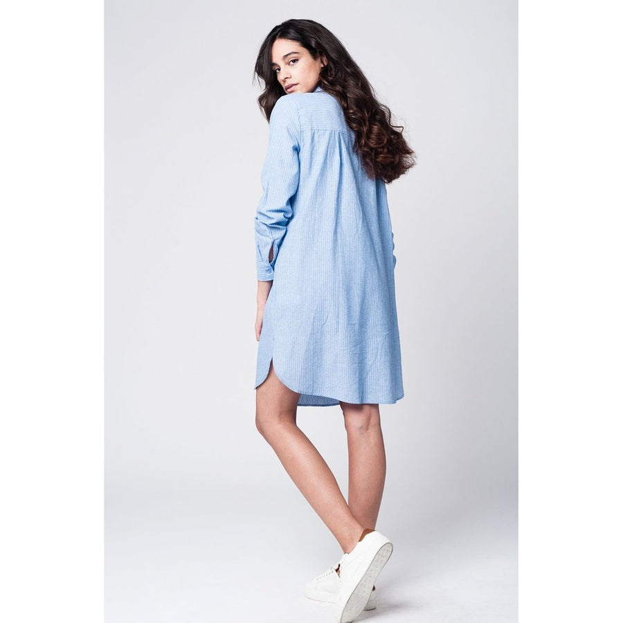 Oversized Boyfriend Shirt Dress