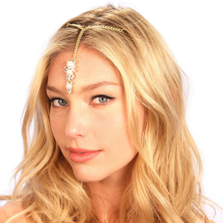 Pearl Tikka Headpiece Women - Accessories - Hair Accessories Tigerlily and Me