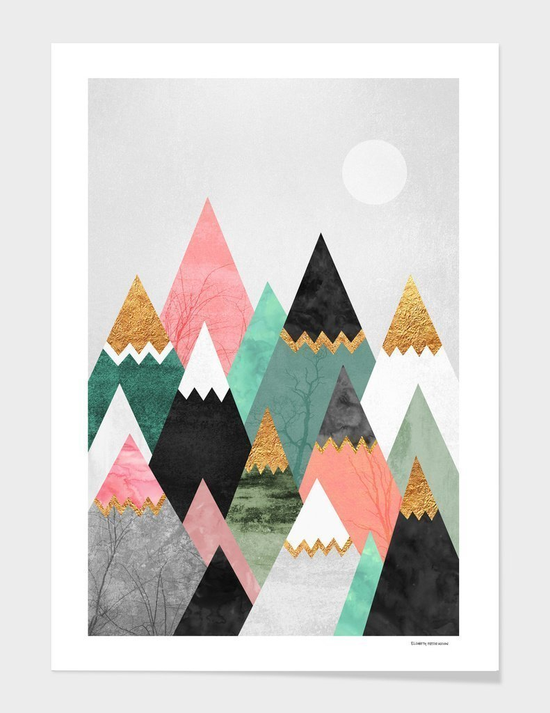Pretty Mountains Frame Home - Wall Art Tigerlily and Me