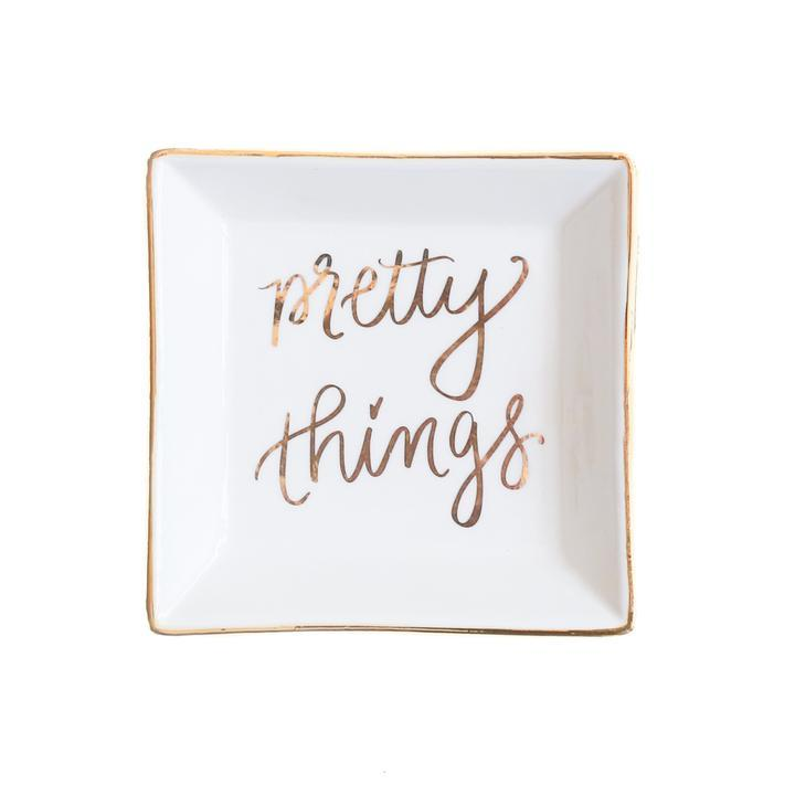 Pretty Things Jewelry Dish Home - Jewelry & Trinket Trays Tigerlily and Me