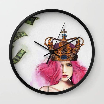 Queen B*tch Wall Clock Home - Wall Art Tigerlily and Me